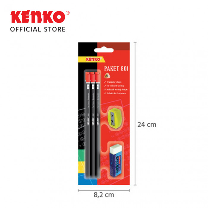 PAKET PENCIL BLISTER CARD 801