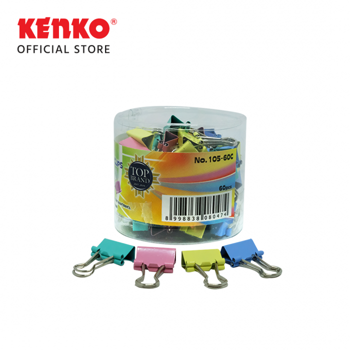 COLOR BINDER CLIP No.105 - SET 6 PCS
