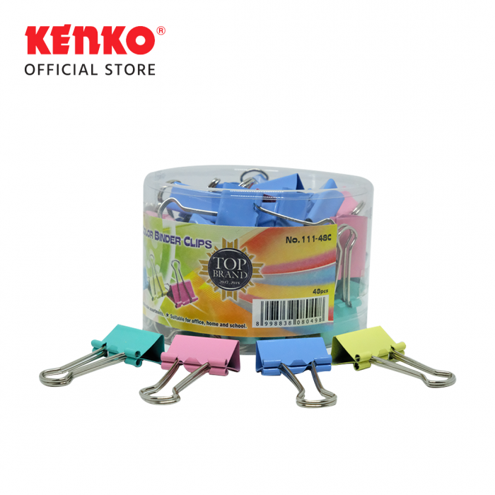 COLOR BINDER CLIP No.111 - SET 4 PCS