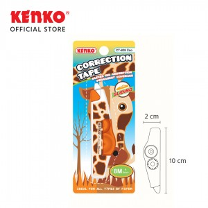 CORRECTION TAPE CT-828 ZOO (8 M x 5 Mm) Random Color