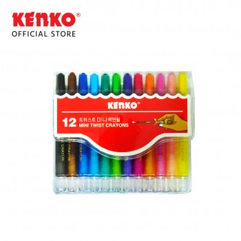 12 COLOR TWIST CRAYON MINI PVC BAG