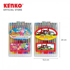 24 COLOR TWIST CRAYON PVC BAG
