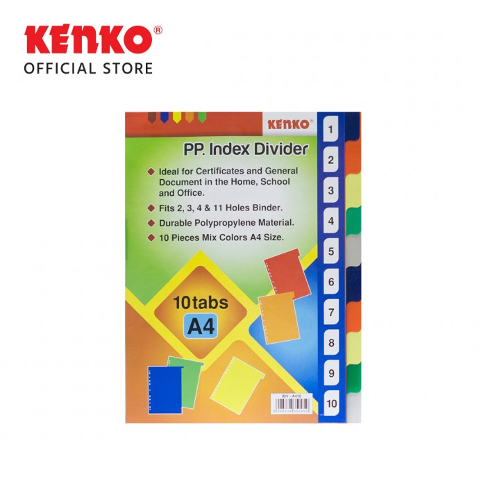 INDEX DIVIDER IDV-A410 /10 TAB