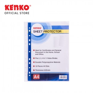 SHEET PROTECTOR SPT100-A4 CLEAR