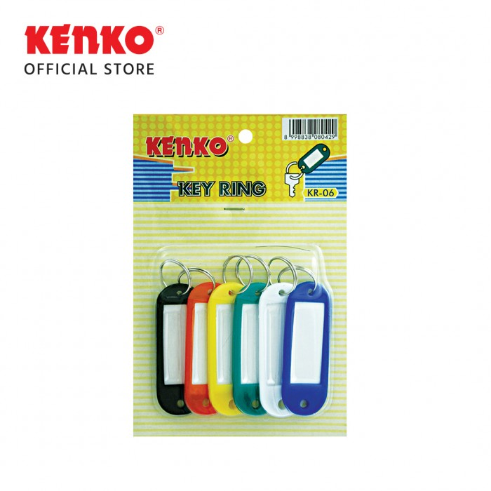 KEY RING KR-06 color 6pc/card