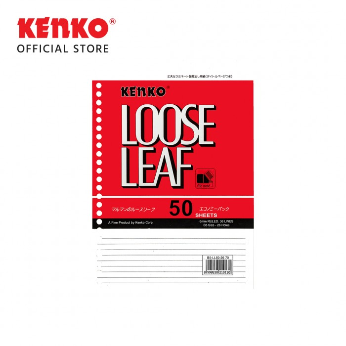 LOOSE LEAF B5-LL   50-2670 (50 Sheet)