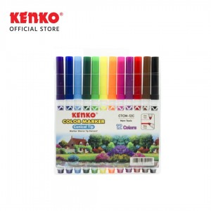 12 COLOR MARKER CONICAL TIP