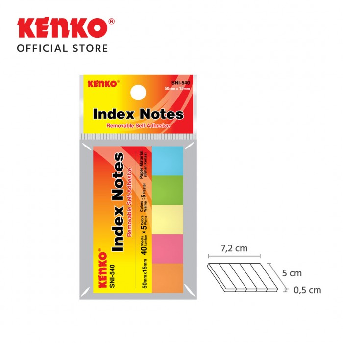 STICK NOTE INDEX SNI-540 Index