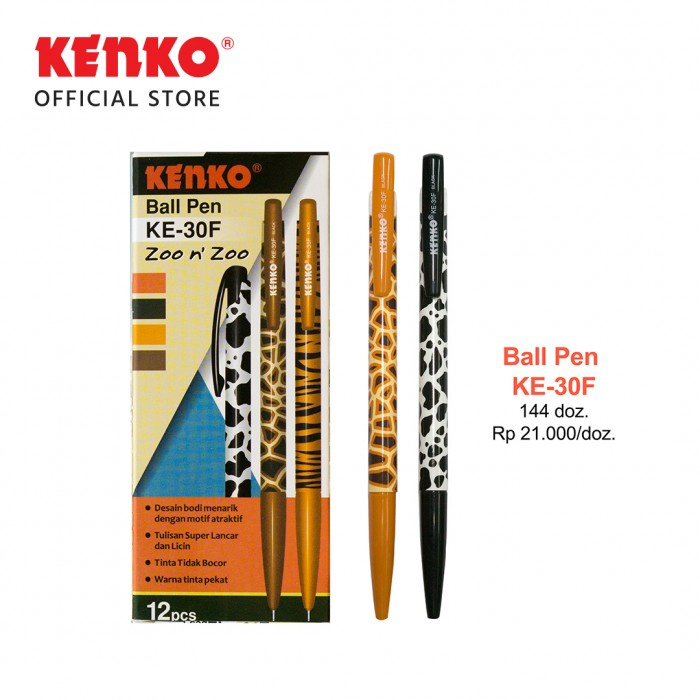 BALLPEN KE-30F (Zoo n' zoo) Black Mix Color 3 PCS