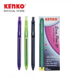 BALLPEN EASY FLOW 21 Hitam Mix Color 4 PCS