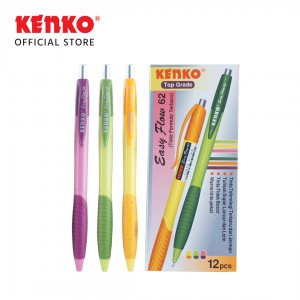 BALLPEN EASY FLOW 62 Mix Color 3 PCS