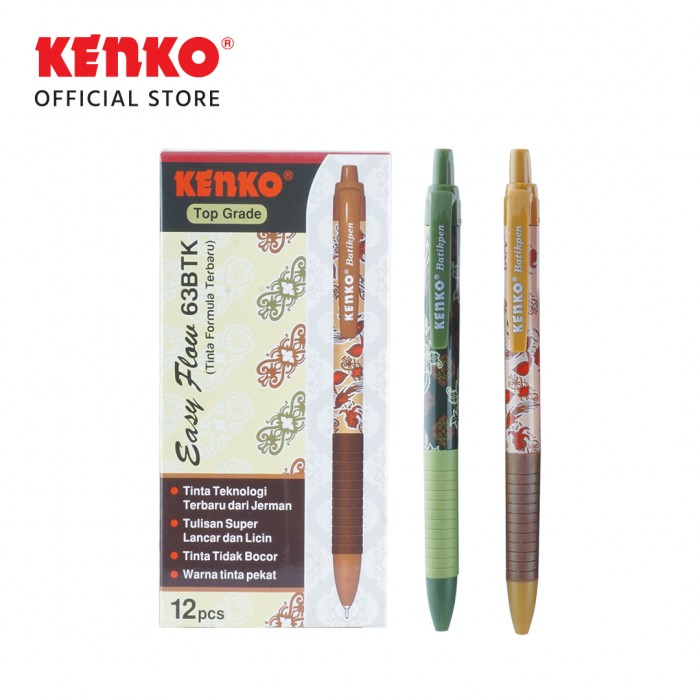 BALLPEN EASY FLOW 63 Batik Mix Color 2 PCS