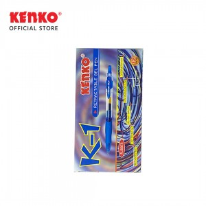 GEL PEN K-1 BIRU DOZ