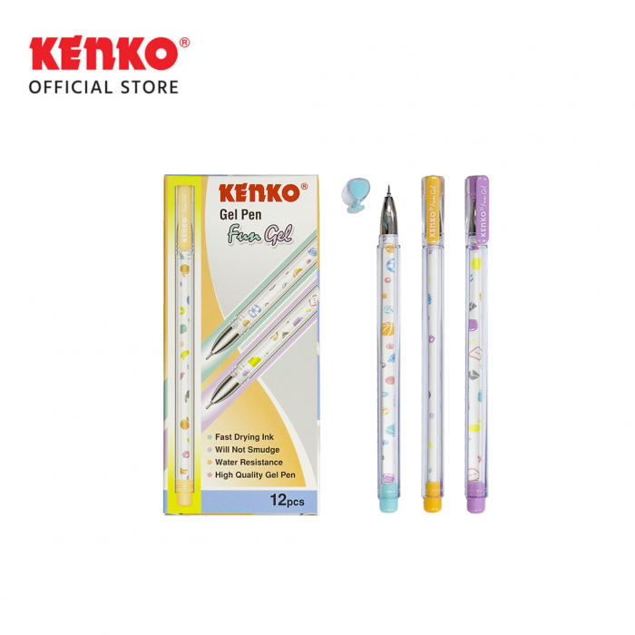 GEL PEN FUN Gel Mix Color 3 PCS