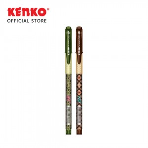 GEL PEN KE 100BTK (Batik) Black Mix Color 2 PCS