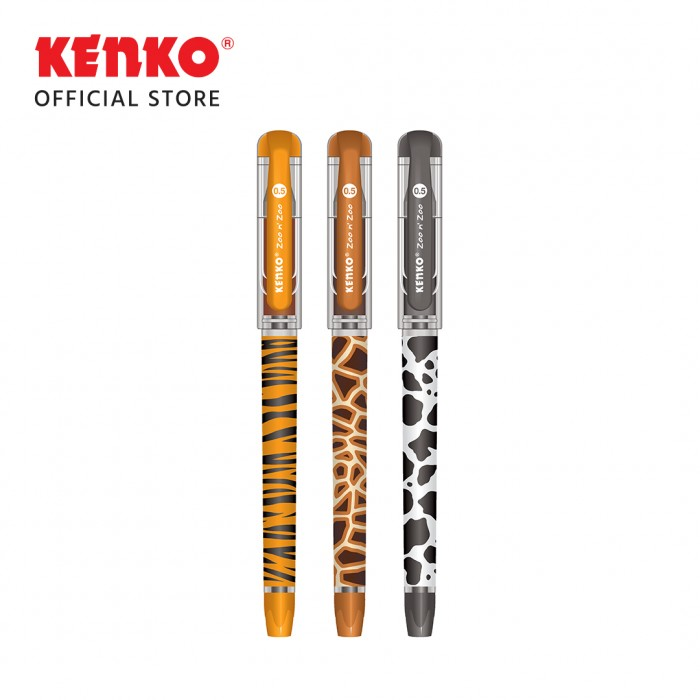 GEL PEN KE-20 (Zoo n' zoo) Black Random Color