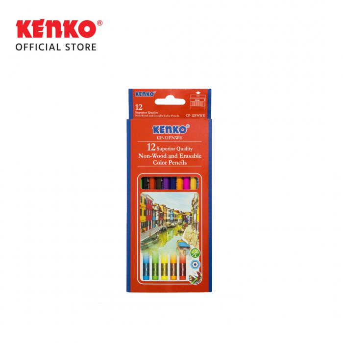 12 COLOR PENCIL CP-12 FNWE Non Wood Erasable