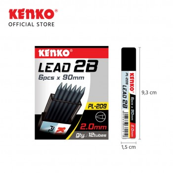 PENCIL LEAD 2B  PL-209 (2.0 Mm x 90 Mm)