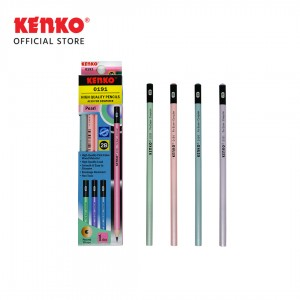PENCIL 2B-0191 Pearl Mix Color 4 Pcs