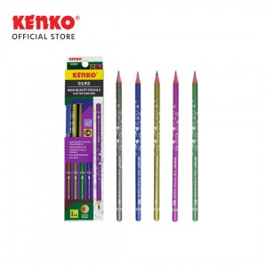 PENCIL 2B-0192 Motif Love Mix Color 6 Pcs