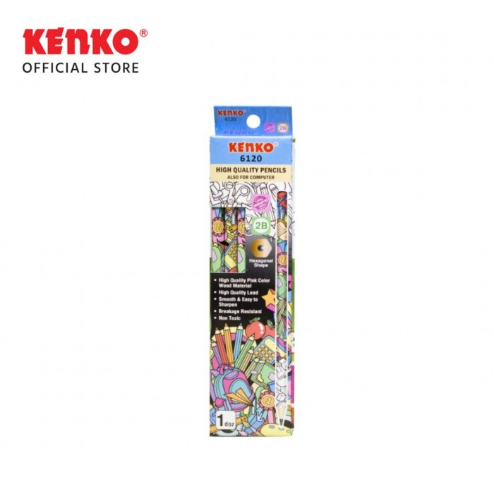 PENCIL 2B-6120 Doodle Hexagonal Mix 3PCS