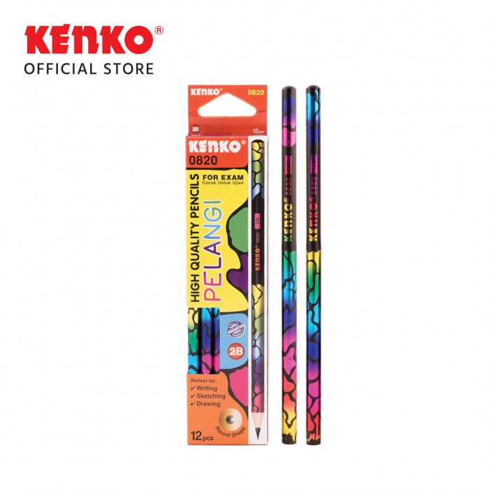 PENCIL 2B-0820 Round Rainbow 2 PCS