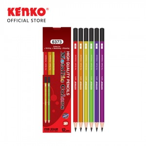 PENCIL 2B-6373 Metallic Mix Color 6 PCS
