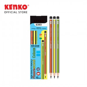 PENCIL 2B-6393 Fluorescent Mix Color 4 PCS