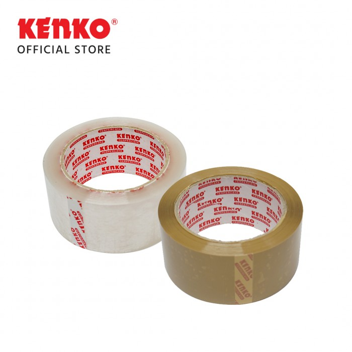 OPP TAPE 48 Mm - Red Core (80 M) TRANSPARENT-Yellowish