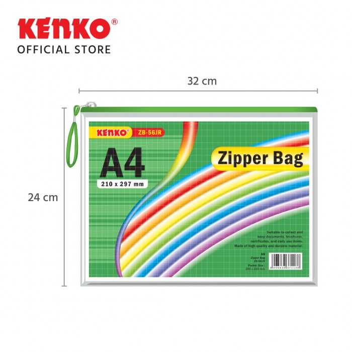 PVC ZIPPER BAG ZB-56 A4 Jaring